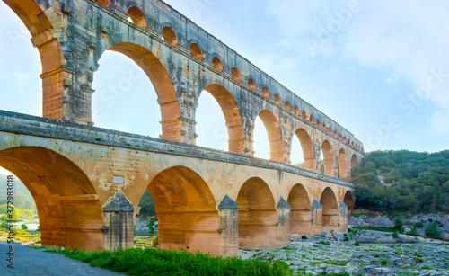 Photo The biggest roman aqueduct