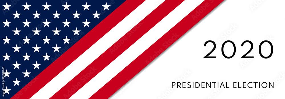 Fototapeta 2020 Presidential Elections background. Banner for US elections, voting concept vector illustration.