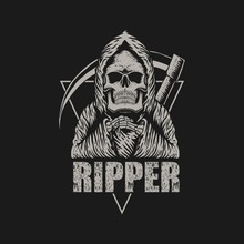 Ripper Style Vector Illustration