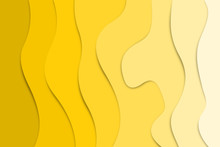 Shades Of Yellow Paper Cut Out Effect, Abstract Background