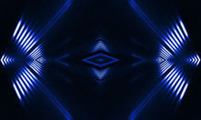 Blue Neon Background. Abstract...