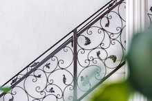 Wrought Iron Fence On Staircase