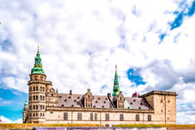 External View Of The Castle Of Kronborg, In The Town Of Helsingor, Denmark, Built In 15th Century. UNESCO World Heritage Site And Immortalized As Elsinore In William Shakespeare's Hamlet.