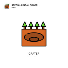 Crater Special Lineal Color Ic...