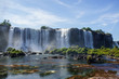 Majestic Iguazu Falls on the border of Brazil, Argentina, and Paraguay