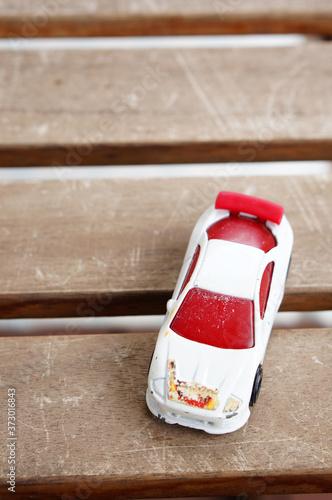POZNAN, POLAND - Jul 29, 2020: Mattel Hot Wheels toy car Canvas Print