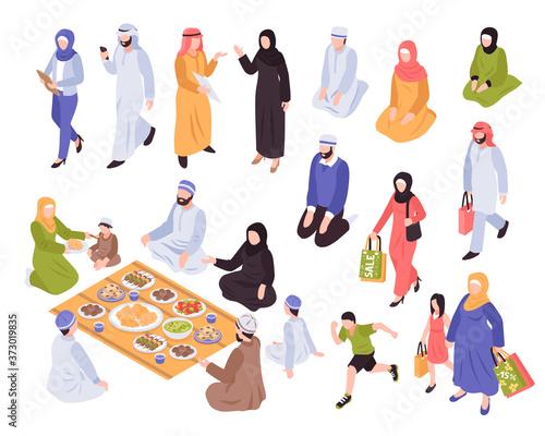 Fototapeta Arab Family Set