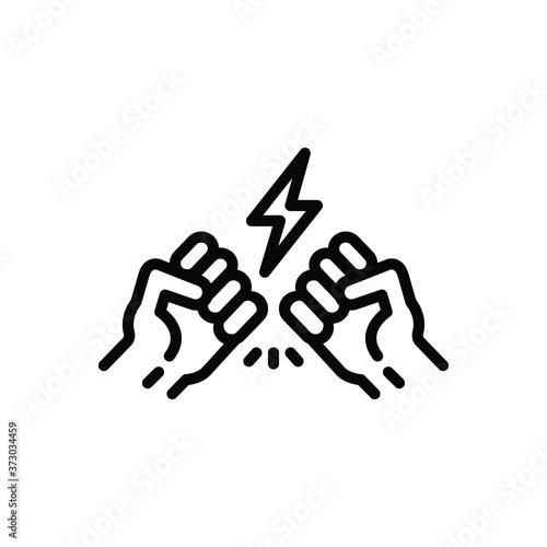 Photo Black line  icon for controversy