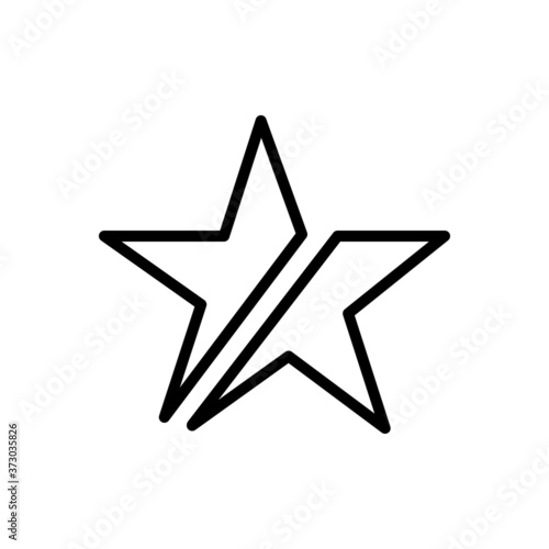 Fotografering Black line  icon for consist