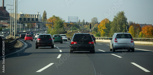 Obraz na plátně Highway traffic