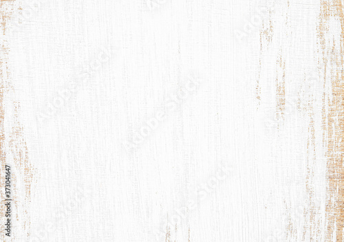 Fototapety, obrazy: Grunge white wood texture background. Natural pattern peeling paint on an old wooden wallpaper.