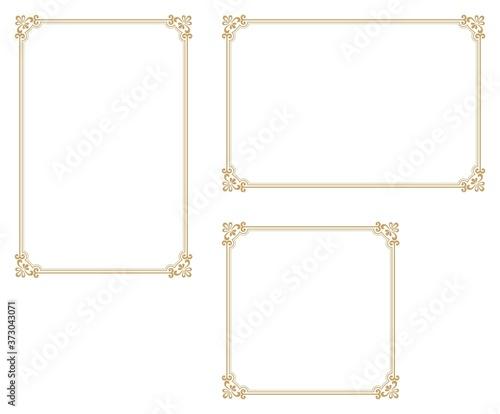 Canvastavla Decorative frame