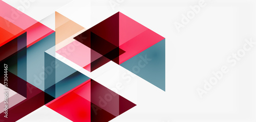 Photo Geometric abstract background, mosaic triangle and hexagon shapes