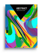 Minimalistic design, creative concept Abstract geometric design, Memphis pattern and colorful background. Applicable for placards, brochures, posters, covers and banners.