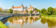 canvas print picture - Panoramic view at the Old Town of Neuburg an der Donau - Germany