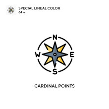Cardinal Points Special Lineal Color Icon. Illustration Symbol Design Template For Web Mobile UI Element.