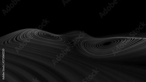 Fotomural Modern black technology background 3d render