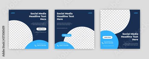 Obraz na plátně Unique Modern Editable Social Media banner template
