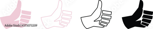 Obraz set of icons of thumb up , ok , yes , Like  - fototapety do salonu
