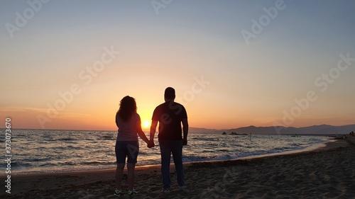 Fotografering Amore al tramonto.