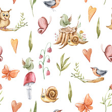 Autumn Seamless Pattern With S...
