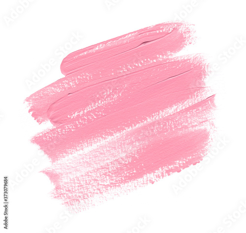 Cuadros en Lienzo Lipstick smudge design background isolated on white background