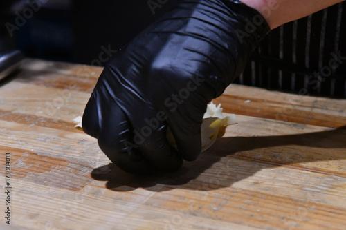 Fototapeta Process of making organic pasta with machinery obraz na płótnie