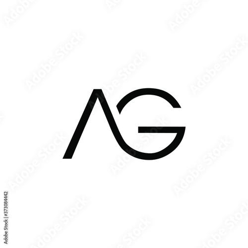 Photo creative minimalist vintage vector AG initials logo
