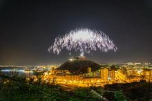 Night Of Fireworks At Santa Ba...