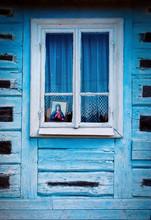 Okno Zabytkowej Drewnianej Cha...