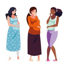 Three Pregnant Women Cartoons ...