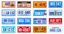 American Car Number Plate Vect...