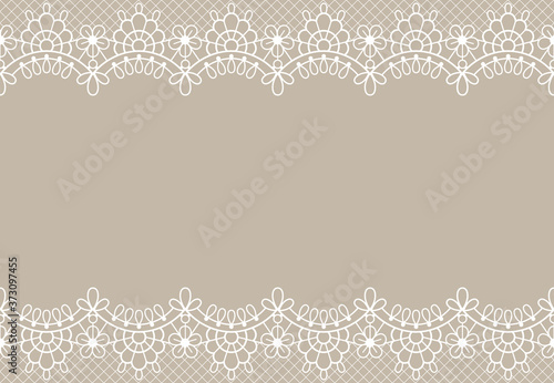 Obrazy beżowe  lace-background-luxury-floral-lace-borders-ornate-design-element-with-place-for-text-wedding