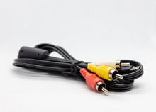 Cable With Rca Input On A Whit...
