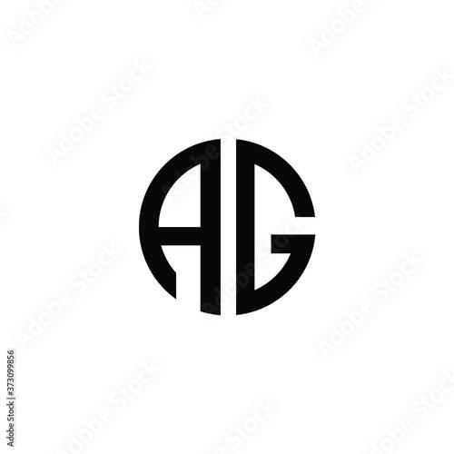 creative minimalist vintage vector AG initials logo Canvas Print
