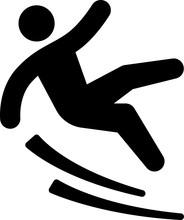 滑り落ちる人のピクトグラム