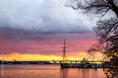 Photo Ships on the Harbor at sunset Old Town Alexandria Virginia