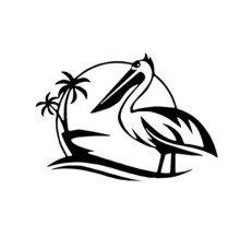 Vector Illustration Of A Pelican