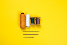 Four Spools Of Multicolored Th...