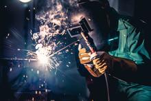 Metal Welding Steel Works Usin...