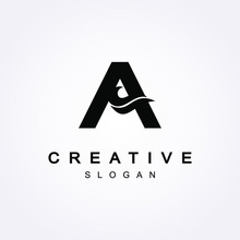 A Letter Logo With Bold Shapes...