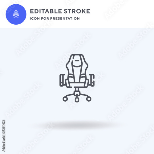 Fotografija Gaming Chair icon vector, filled flat sign, solid pictogram isolated on white, logo illustration