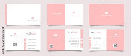 Fototapeta creative modern name card and business card obraz