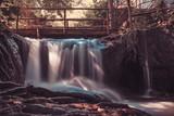beautiful panorama of the waterfalls of iced mountain park of the treja valley mola mazzano romano rome