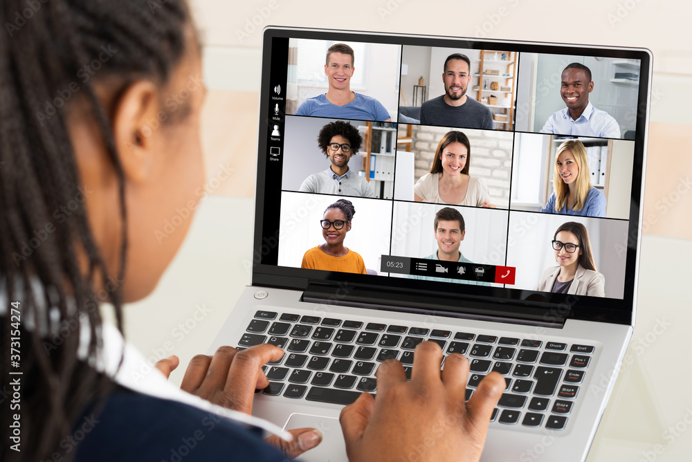 Fototapeta Businesswoman Using Laptop - obraz na płótnie