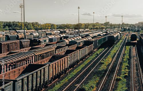 Fotografie, Obraz railway marshalling yard