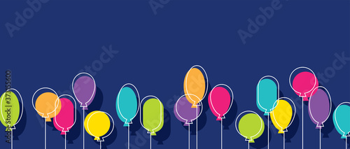 Birthday party background with colorful balloons. Canvas-taulu