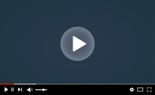 Desktop Web Video Player. Multimedia Player Social Media, Play Video Online Window With Navigation Icons, Modern Social Media Video Player Interface Template For Web And Mobile Apps