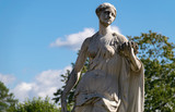 Marble statue in Palace Park in Gatchina, Russia