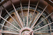 Wheel And Gear On Old Steam Lo...